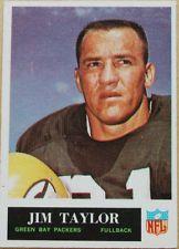 1965 Philadelphia Jim Taylor #82 NM Green Bay Packers football hall of fame FB