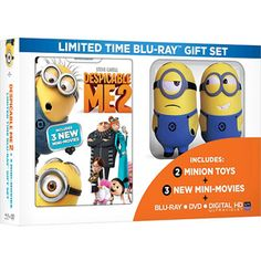 Despicable Me 2 (Limited Time Gift Set) (Blu-ray + DVD + HD Digital Copy + 2 Minion Toys + 3 Mini-Movies) (Walmart Exclusive) (Widescreen) Minion Toy, Despicable Me 2 Minions, Minions Love, My Minion, Funny Minion, Funny Jokes, Disney Cake Toppers, Minions Funny Images, Minions Quotes