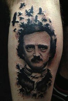 This raven-loving poet and writer was tattooed by Vinny Romanelli. #InkedMagazine
