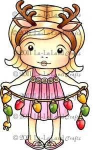*La-La Land Crafts Cling Stamp SUNNY CHRISTMAS MARCI Rubber Unmounted 5066