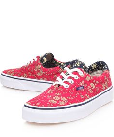 Vans Red Capel Liberty Print Era Trainers...LOVE THEM.
