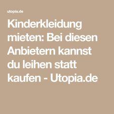 Kinderkleidung mieten: Bei diesen Anbietern kannst du leihen statt kaufen - Utopia.de