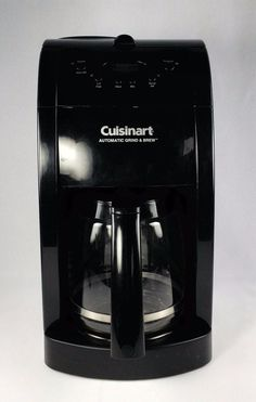 Cuisinart Grind and Brew Automatic Coffee Maker 12 Cup Black Model DGB-500BK #Cuisinart