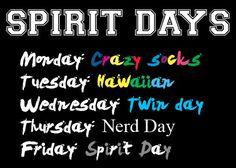 Want To Improve Your Leadership Skills? Spirt Week Ideas, Spirit Week Themes, Spirit Weeks, Homecoming Themes, Homecoming Spirit Week, Homecoming Dresses, Prom, School Spirit Days, School Days