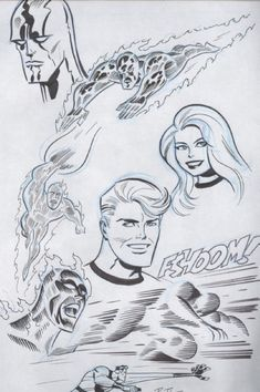 Fantastic Four Drawings by Bruce Timm