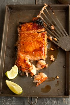 I could live off salmon if it were more affordable and more sustainable. This recipe uses a miso honey glaze.