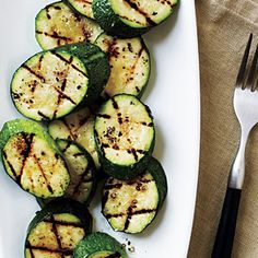 Grilled zucchini with sea salt. Simple and delicious; much better than just steaming it.