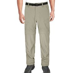 Hardland Men's Lightweight Convertible Pants Tactical Cargo Pants, Mens Work Pants, 4 Way Stretch Fabric, Long Pants, Nice Body, Workout Pants, Convertible, Elastic Waist, Khaki Pants