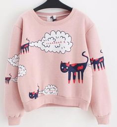 Two Stupid Cats ~ Products ~ Plus Size Funny Cat Pattern Women Sweatshirt  A myth of Cat flatulence-has anyone actually witnessed it :)? Bring out the big guns in this funny and quality sweatshirt that begs to differ. Free Shipping!