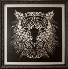 Amazing Tiger stencil by Flox aka Hayley King from Watermark Tiger Stencil, Stencil Art, Stencils, Black And White Illustration, All Art, It Works, Tapestry, Urban, Sculpture