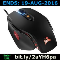 ENDS 19-AUG-2016  --  #Win an M65 Pro RGB #Gaming Mouse >>bit.ly/2aYH6pa<< #competition #giveaway #sweepstakes #corsair #pc