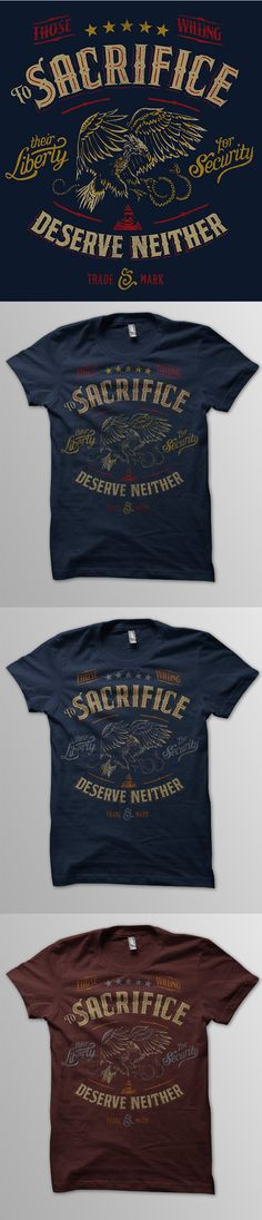 Sacrifice tee mocks by derrick castle