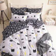 US $19.79 Wongbedding Brand Black Batman Mask Bedding Set Cartoon Quality Duvet Cover Bed Set Beddings Single Full Queen King Size. Aliexpress product