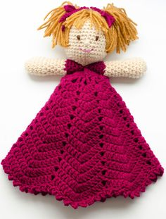 Meet Emily, a sweet Lovey crochet pattern. Your little one will have sweet dreams with this adorable security blanket. Crochet Lovey, Love Crochet, Crochet Gifts, Beautiful Crochet, Crochet Yarn, Easy Crochet, Crochet Toys, Crochet Designs, Crochet Patterns