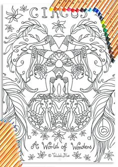 A World of Wonders Colouring Page 'The Circus Girl