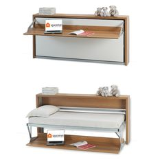 Slumberdesk Horizontal - desk and horizontally opening bed