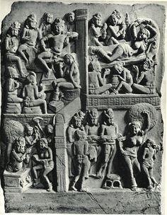 Plaque de revêtement du stupa d'amaravati - BM Londres