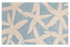 Starfish Rug, Powder Blue/White on OneKingsLane.com