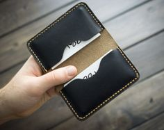 Personalized Handmade Leather Business Card Holder Card by EchoSix