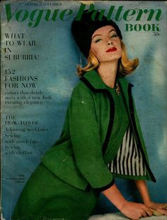 Vogue Pattern Book, October-November 1960 featuring Vogue 4143