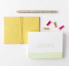 dip dye thank you notes from fig. 2 design studio (via design*sponge)