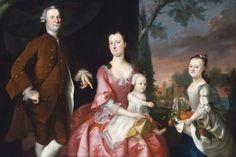 1755 Joseph Blackburn (American colonial era artist, fl 1753-1763). Isaac Winslow and His Family