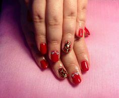 #nails #gel #leopardprint