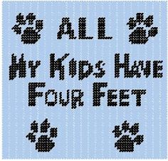 All My Kids Plastic Canvas Pattern Sign by PCDesignz on Etsy