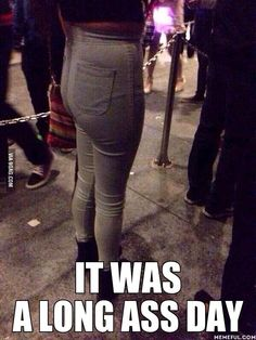 Ladies, this is what those ugly high-waisted pants do to you.  Please stop.