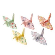 Origami 5 color bird chopstick rests