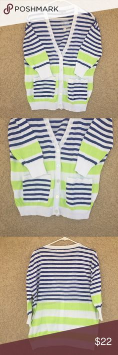 Multicolor stripes  Cardigan From button cardigan with pockets . 100% cotton . Sweaters Cardigans
