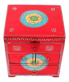 Take a look at this Red Hand-Painted Jewelry Box by Tadpoles on #zulily today!  ($110.00)  $63.00