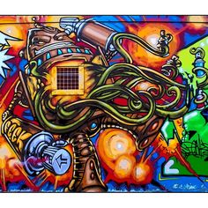 All suckers krushed! Urban Street Art, Suckers, Robots, Graffiti, Sci Fi, Pure Products, Canvas, Creative, Urban Art