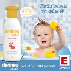 Derinex Bebek Şampuanı Papatya içeren formülü sayesinde bebeğinizin cildini rahatlatır ve tahrişlere karşı korumaya yardımcı olur. Saçı yumuşatır, hassas saç ve vücut temizliği sağlar.  Saç derisine ve cilde uyumlu PH 5,5 sayesinde saçın ve saç derisinin doğal yapısını zararlı dış etkenlere karşı korur. SLS, SLES, paraben, sabun, alkol ve boyar maddeler içermez. Dermatolojik olarak test edilmiştir. Mikrobiyolojik kontrolden geçirilmiştir. Cildin doğal yapısına zarar vermez.  #bebekSampuanİ