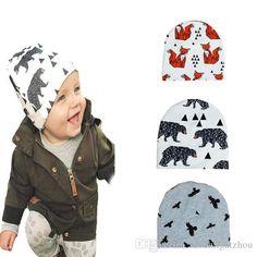 8ed7d44b7f8 Fox Panda Tiger Bear Birds Newborn Hats Beanies Caps Cartoon Batman Cross  Pattern Baby Cap   Hat For Boys Girls Kids Accessories