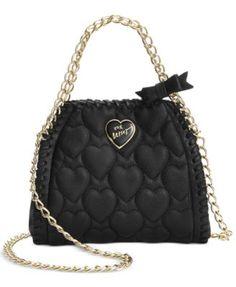 Betsey Johnson Mini Quilted Chain Handbag