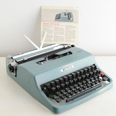 Vintage Lettera Portable Typewriter. I loved mom's and the sound it made when used!