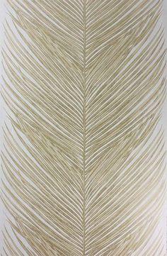 Sample Mey Fern Wallpaper in Gold by Nina Campbell for Osborne & Little Fern Wallpaper, Luxury Wallpaper, Fabric Wallpaper, Designer Wallpaper, Wallpaper Ideas, Feather Wallpaper, Mobile Wallpaper, Nina Campbell, Wallpaper Online