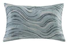 Marble Oblong Cotton Lumbar Pillow