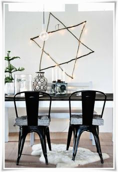 rustic DIY star of david with twigs and white lights via a palm beach artist, designer, consultant. #hanukkah
