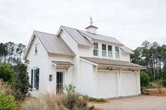 Inviting modern farmhouse cottage for family living in South Carolina Cottage Design, Cottage Style, Carriage House Plans, Unique Floor Plans, Garage Addition, Garage Plans, Garage Ideas, Garage Doors, Garage Exterior