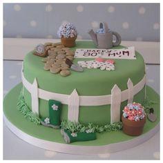 Garden themed cake for Don's Mum's birthday Garden Theme Cake, Garden Birthday Cake, Birthday Cake With Flowers, Garden Cakes, Flower Birthday, 70th Birthday Cake For Women, 90th Birthday Cakes, Bithday Cake, Mum Birthday
