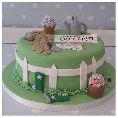 1000 images about party birthday cake on pinterest for Garden theme cake designs