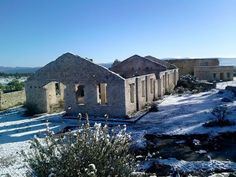 Mineral de Pozos, old mine with snow late 2015.