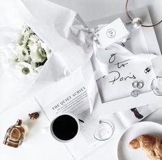 Coffee flower perfume  food white rings magazine Paris gray green black  by tina ☾ | WHI