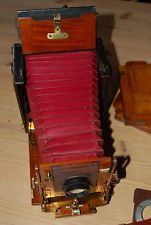 "1905 Sanderson Regular Folding Field Plate Camera, Dallmeyer f/6.5 - 5½"" Lens."