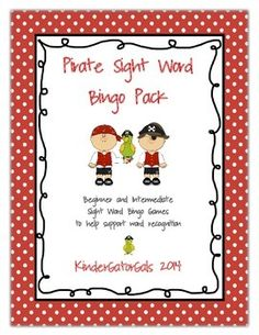 A fun way to review sight words with your little pirates! The pack contains two separate sets of game boards and sight word cards, ready for you to print out and play! The words on each set help support students in beginning of the year and end of the year MClass word recognition assessments.