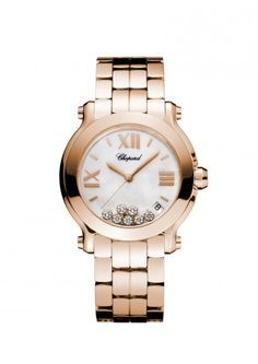 Chopard Happy Sport Medium Watch 18-carat rose gold and diamonds