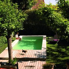 Discover 27 small backyard pool ideas for your inspiration. These small inground and above ground swimming pools will transform your backyard into an outdoor oasis. Small Backyard Gardens, Small Pools, Small Backyard Landscaping, Small Backyards, Landscaping Ideas, Backyard Ideas, Backyard Designs, Patio Ideas, Pool In Small Backyard
