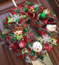 Snowman Wreath by WhatsOnYourDoor                                                                                                                                                                                 More